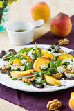 Peach with Blue cheese and Rocket salad Royalty Free Stock Photos