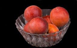 Peach bowl Stock Photography