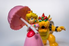 Peach and Bowser royalty free stock photo