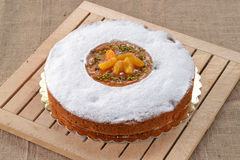 The peach cake. Stock Image