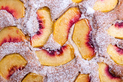 Peach cake Stock Photo