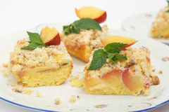 Peach cake Stock Images