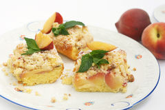 Peach cake Royalty Free Stock Photo