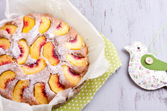 Peach cake Royalty Free Stock Photography