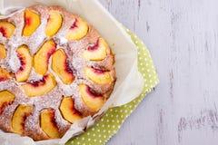 Peach cake Stock Images