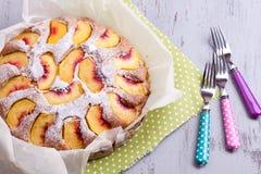 Peach cake Stock Photography