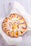 Peach cake Royalty Free Stock Image