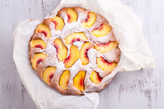 Peach cake Royalty Free Stock Images