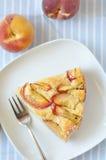 Peach Cake. Homemade fresh Lemony peach cake Stock Images