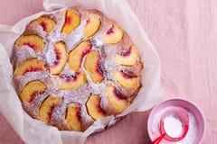 Peach cake Stock Photos