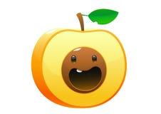 Peach Cartoon character cute fun Stock Photo