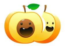 Peach Cartoon two character cute fun Stock Image