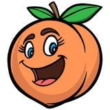 Peach Cartoon. A vector illustration of a Peach Cartoon stock illustration