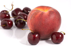 Peach and Cherry Royalty Free Stock Image