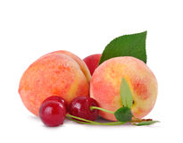 Peach and cherry Royalty Free Stock Photo