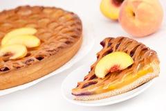Peach-cherry pie Royalty Free Stock Image