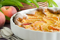 Peach clafouti Royalty Free Stock Photos