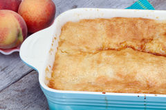 Peach Cobbler Stock Photography