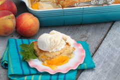 Peach Cobbler Stock Photo