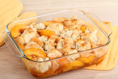 Peach Cobbler Stock Image