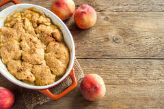 Peach cobbler crumble royalty free stock photos