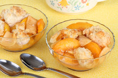Peach Cobbler Dessert Royalty Free Stock Photography