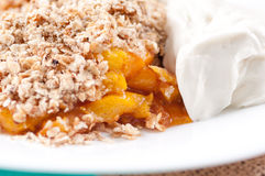 Peach cobbler Royalty Free Stock Photos