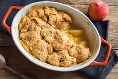 Peach cobbler royalty free stock photography