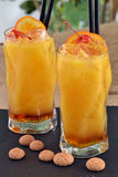 Peach cocktail. Royalty Free Stock Photography
