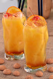 Peach cocktail. Stock Photos