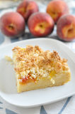 Peach Coconut Crumble Cake Royalty Free Stock Photography
