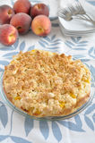 Peach Coconut Crumble Cake Royalty Free Stock Image