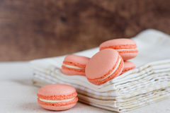Peach color macaroons Royalty Free Stock Image