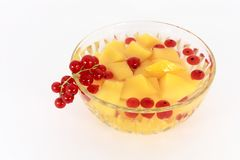 Peach compote Royalty Free Stock Images