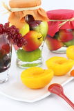 Peach compote Royalty Free Stock Photos