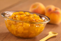 Peach Compote Stock Photos