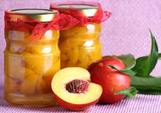 Peach compote Stock Image