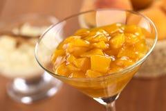 Peach Compote Stock Image