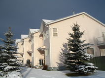 Peach condominiums. Canon  digital landscape Stock Photos