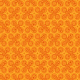 Peach and Cotton Pattern Royalty Free Stock Images