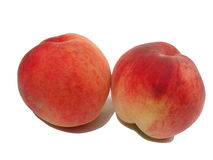 Peach. A couple of large ripe peaches Stock Images
