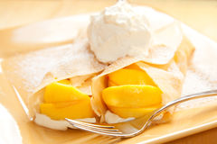 Peach Crepes Royalty Free Stock Image
