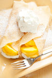 Peach Crepes Stock Photo