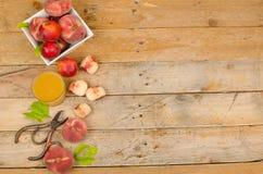 Peach crop Stock Photo