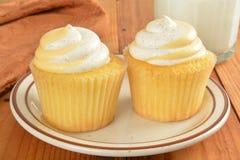 Peach cupcakes Stock Photo