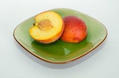 Peach Cut in Half Stock Photos