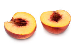 Peach cut on two parts Stock Photo