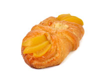 Peach danish isolated on white Stock Photography