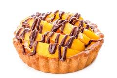Peach dessert Stock Photo