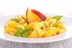 Peach dessert Stock Photos